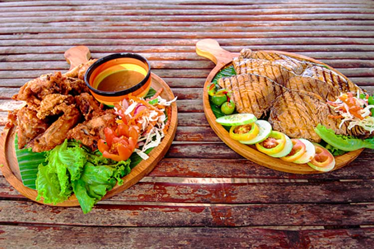 (Delicious Foods in the Island to eat.)