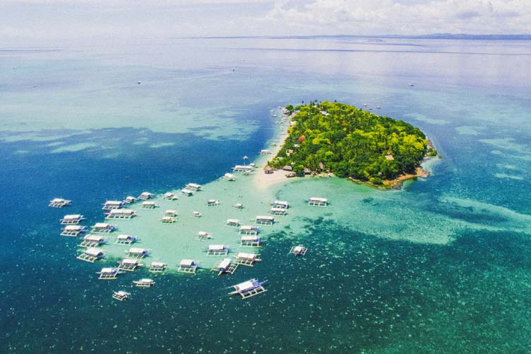 An aerial view of the Sulpa Island.